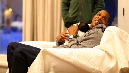 Jay-Z with Blue Ivy Carter