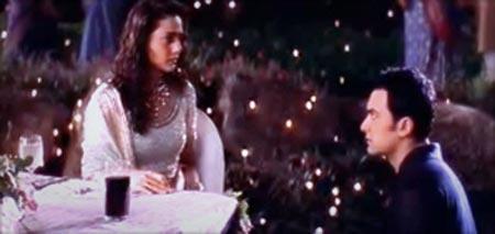 Preity Zinta and Aamir Khan in Dil Chahta Hai