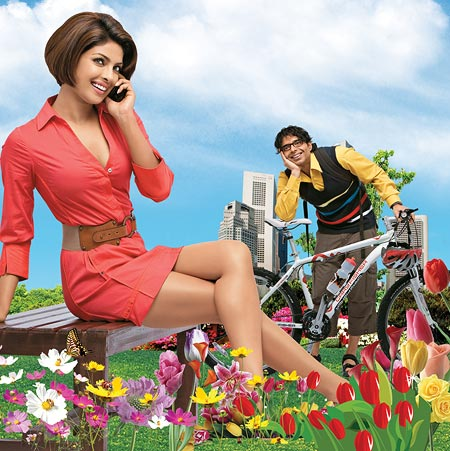 Priyanka Chopra and Uday Chopra in Pyar Impossible