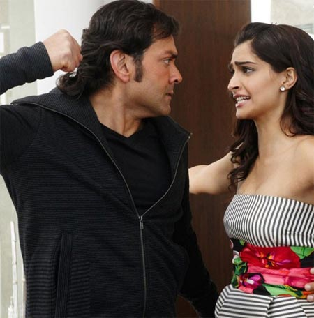 Bobby Deol and Sonam Kapoor in Thank You
