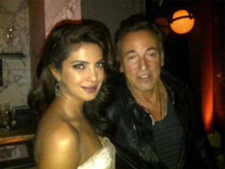 Priyanka Chopra and Bruce Springsteen