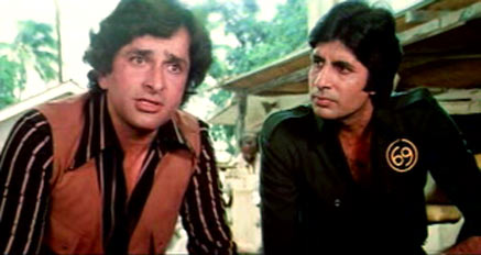 Shashi Kapoor and Amitabh Bachchan in Shaan