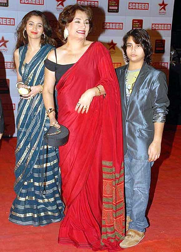 Salma Aga with her children