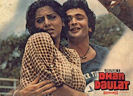 Rishi Kapoor and Neetu Singh in Dhan Daulat
