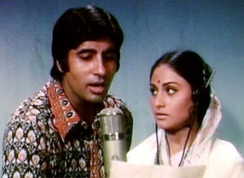 Amitabh Bachchan and Jaya Bhaduri in Abhimaan