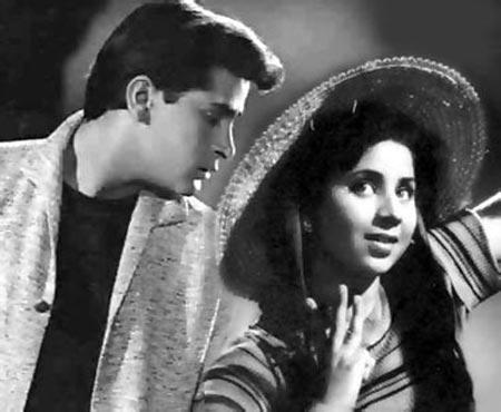 Shammi Kapoor and Geeta Bali
