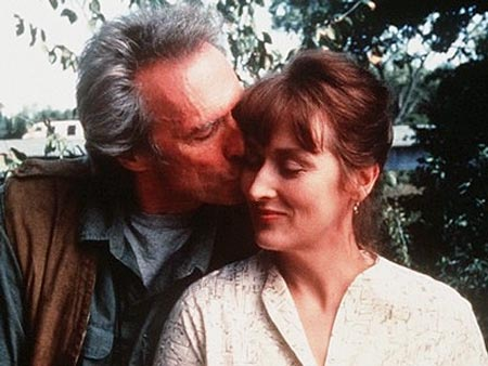 Clint Eastwood and Meryl Streep in The Bridges Of Madison County