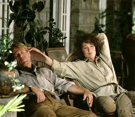 Robert Redford and Meryl Streep in Out Of Africa
