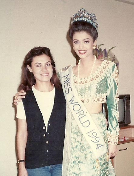 Marvie Ann Beck and Aishwarya Rai Bachchan