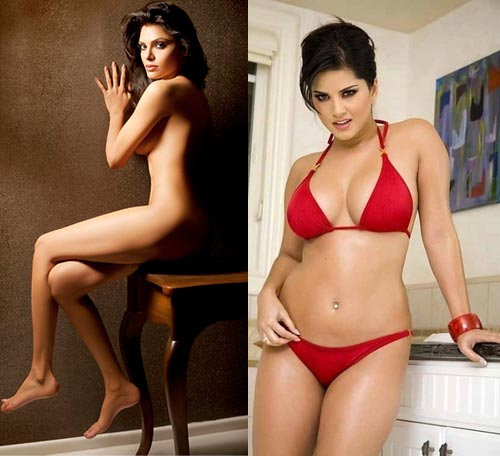 Sherlyn Chopra and Sunny Leone