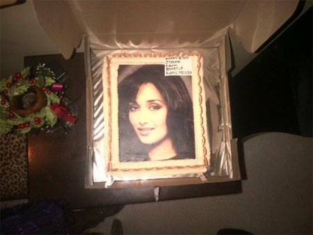 Jiah Khan's birthday cake