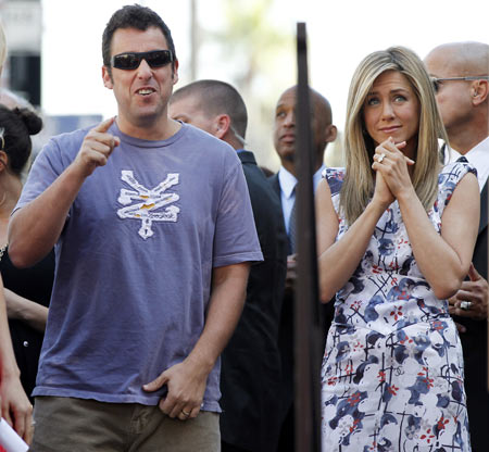 Adam Sandler and Jennifer Aniston