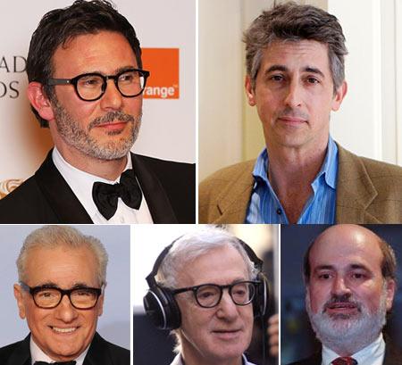 Michel Hazanavicius, Alexander Payne, Martin Scorsese, Woody Allen, Terrence Malick