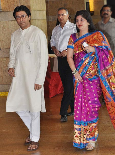 Raj and SharmilaThackeray