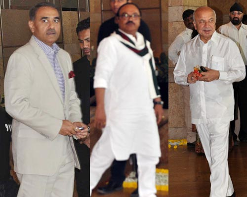 Praful Patel, Sushil Kumar Shinde and Chhagan Bhujbal