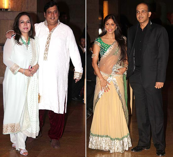 David Dhawan with wife Karuna, Ashutosh Gowariker with wife Sunita