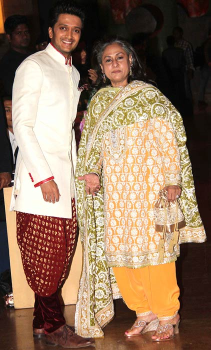 Riteish Deshmukh and Jaya Bachchan