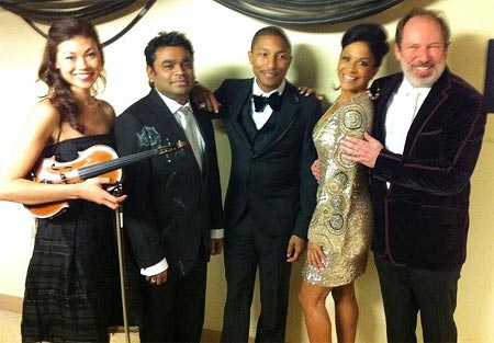 A R Rahman along with Pharrell Williams, Sheila E and Hans Zimmer