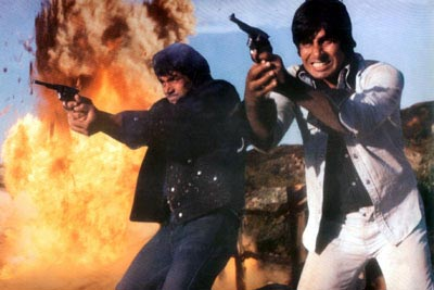 Dharmendra's Veeru and Amitabh's Jai in Sholay