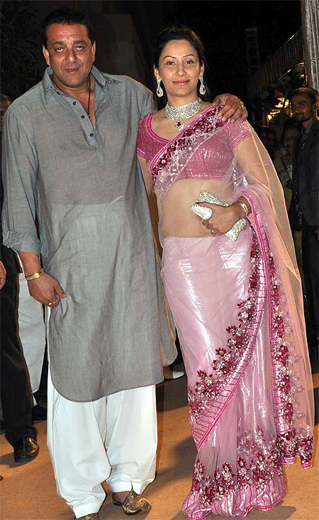 Sanjay and Maanyata Dutt