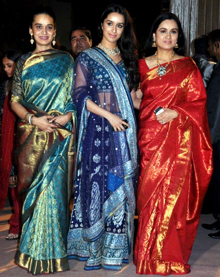 Shivangi and Shraddha Kapoor and Padmini Kolhapure