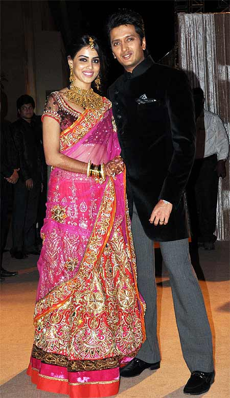 Riteish Deshmukh and Genelia D'Souza