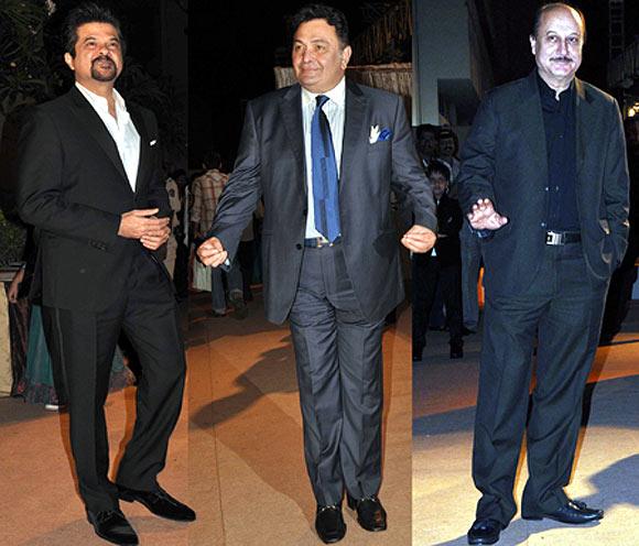 Anil Kapoor, Rishi Kapoor and Anupam Kher