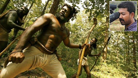 A scene from Aravaan. Inset: Cinematographer R Siddharth