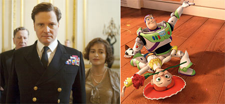 The King's Speech and Toy Story 3