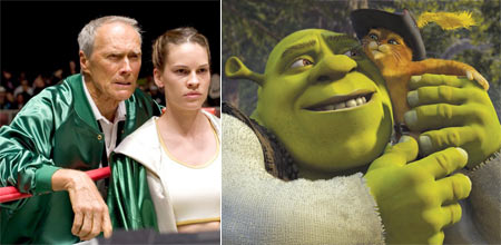 Million Dollar Baby and Shrek 2