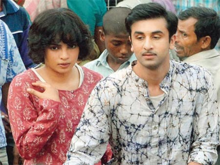 Priyanka Chopra and Ranbir Kapoor in Barfee
