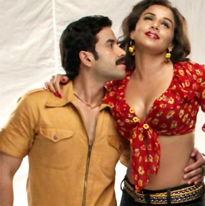 Tusshar Kapoor and Vidya Balan in The Dirty Picture
