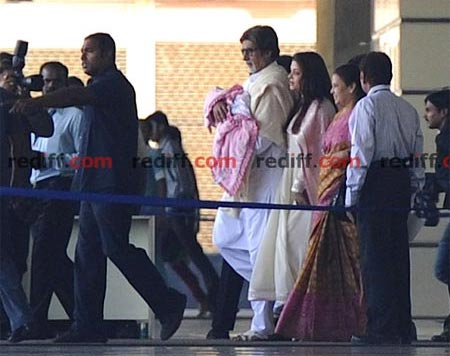 Aishwarya Rai Bachchan and Amitabh Bachchan