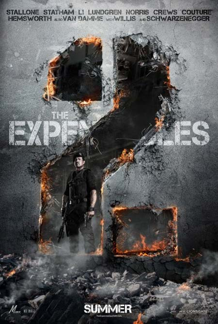Movie poster of The Expendables 2