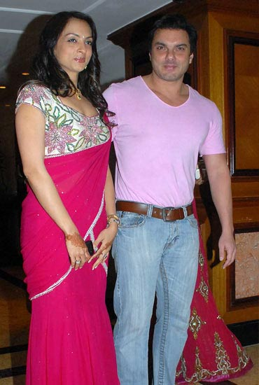 Sohail Khan and Seema Khan