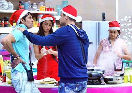 Bigg Boss contestants celebrate Christmas