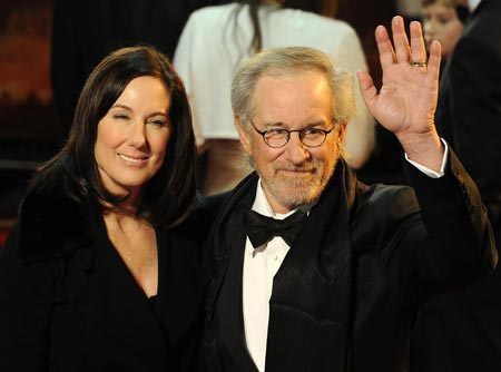 Kathleen Kennedy and Steven Spielberg