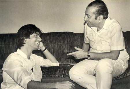 Ruhan with Mahendra Kapoor