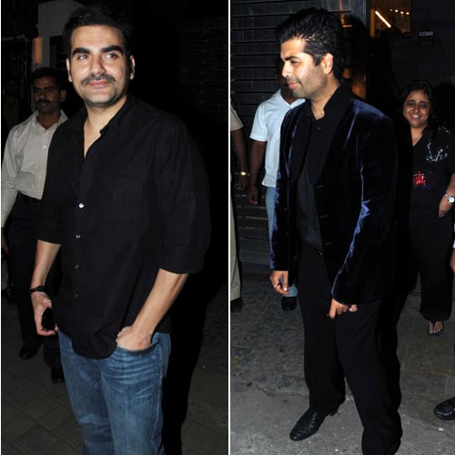 Arbaaz Khan and Karan Johar