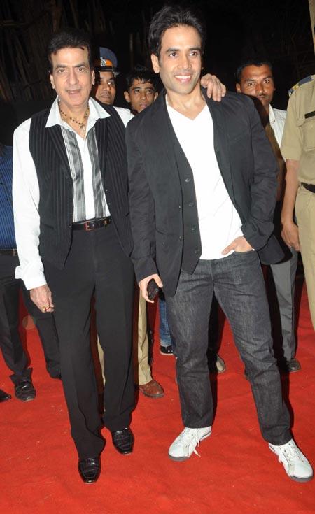 Jeetendra and Tusshar Kapoor