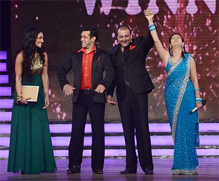 Mahek Chahal, Salman Khan, Sanjay Dutt, Juhi Parmar