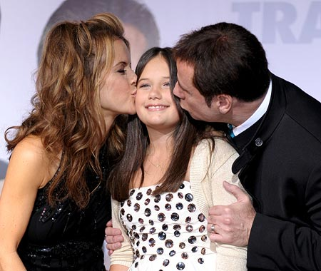 John Travolta and Kelly Preston with Ella Bleu