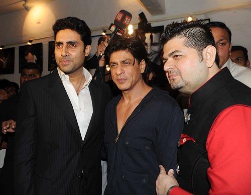 Abhishek Bachchan, Shah Rukh Khan and Dabboo Ratnani