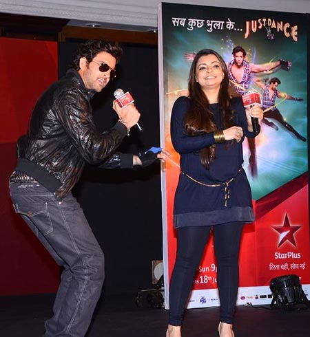 Hrithik Roshan and Vaibhavi Merchant on Just Dance