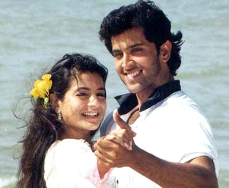 Ameesha Patel and Hrithik Roshan in Kaho Na... Pyar Hai