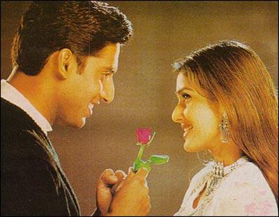 Abhishek Bachchan and Keerti Reddy in Tera Jadoo Chal Gaya