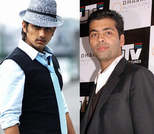 Siddharth and Karan Johar