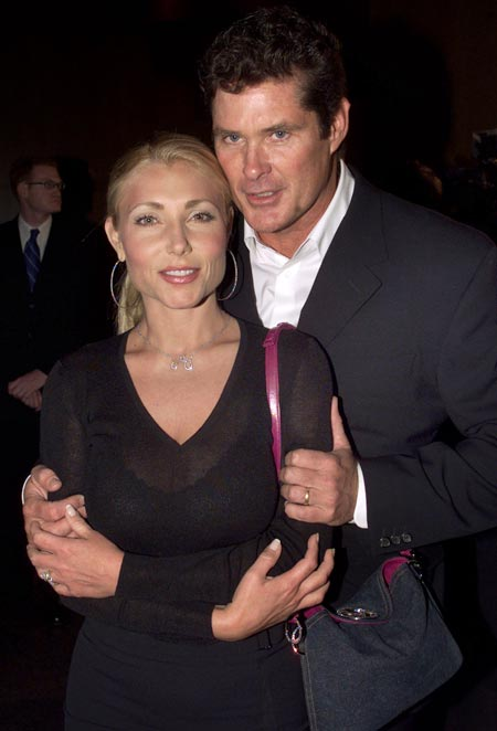 David Hasselhoff and Pamela Bach