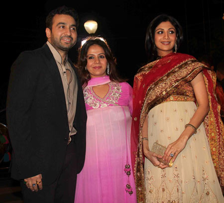 Raj Kundra, Kiran Bawa and Shilpa Shetty