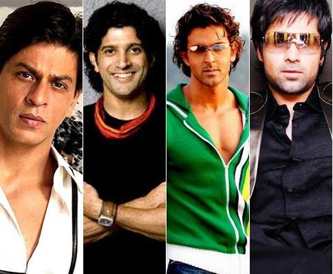 Shah Rukh Khan, Farhan Akhtar, Hrithik Roshan and Emraan Hashmi